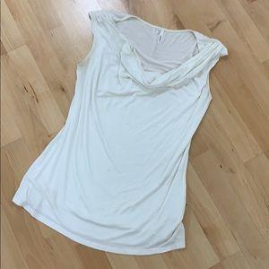 White Sleevesless Top